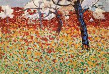 Egon Schiele Landscapes / The Painter / Plants, Trees, Houses etc......