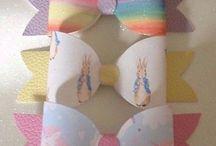 handmade hair bows / handmade bows