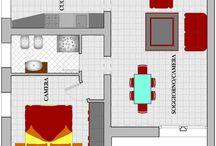 Amueblar nuestro piso Grupo 5 STEM1314 / Este piso es compuesto de cuatros habitaciónes: un salón, una cocina, un dormitorio y un cuarto de baño.