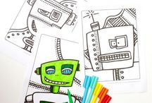 Boys colouring pages