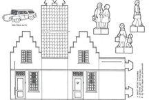 Huisjes bouwplaten 1-144 / Glitterhuisjes, patronen, ideeën