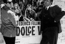 """La Dolce Vita / Roma anni 60 - """"La città di Roma è diventata un luogo dove sta andando in scena l'apoteosi della modernità. La città eterna si è trasformata, grazie al potere seducente della  celluloide, nella «Hollywood sul Tevere», «La dolce vita» passa alla Storia come la più famosa celebrazione dei fasti della modernizzazione: la """"movida"""" romana, via Veneto, i veicoli di comunicazione di massa e insieme l'innesto di elementi di rinnovamento linguistico e narrativo."""""""