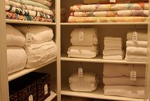 Walk in linen storage