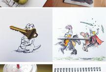 Tekeningen met alledaagse objecten