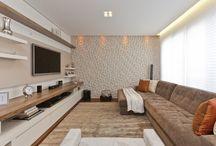 Sala de estar, jantar e tv. / Estar/ jantar/ tv