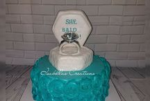engagement and Bridal shower cakes