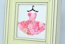 Button Wall Art / Pretty buttons to brighten up the walls of children's rooms, sewing rooms or everyday living rooms