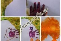 Handprint sheep art idea