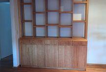 Mueble de comedor / Mueble de comedor realizado en mdf enchapados y en melamina