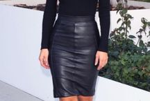 Leather Skirt Outfit Work
