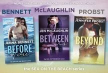 Sex on the Beach series / The Sex on the Beach trilogy written by Jennifer Probst, Jen McLauglin and moi (Jenna Bennett)