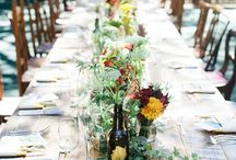 Table settings wedding rustic quirky