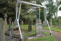 Headstone lifting
