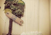 Telar Decorativos atelier manos a la obra / Telar de la imaginación, con distintos puntos, amarras, colores , texturas