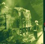 Alanya'da Ankara Toptancı Haline Domates Taşıyan Kamyon Yandı