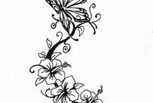 Blumen-tätowierungen