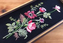 Vintage Embroidery on Black Backgrounds