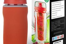 New InfuseFruit 32oz with the Longer Infuser -- Tango Red / This board shows an improved version of the InfuseFruit bottles that you've  all loved. With a longer infuser rod, you can now add more fruits and herbs inside! You no longer have to tilt the bottle because your water gets infused to the last drop!