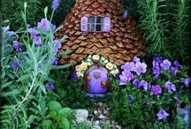 Fairy gardens. / Oh how I would love to develop a talent here.