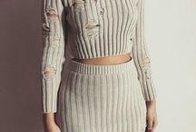 Pletené šaty / svetre +