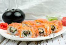 Рецепты Суши и Роллов / Пошаговые фото рецепты домашних #суши и роллов. #рецепты #кулинария #роллы