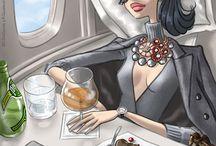 First Class Flight Outfits
