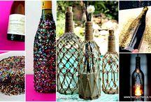 DIY Wine Bottle Recycling Projects  Homesthetics / by Homesthetics.net