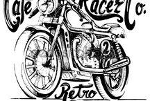 Cars and motorcycles Harley Davidson