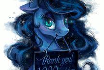 Luna and Ponies