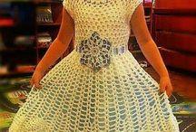 vestidos niñas en croche