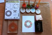 Painting with embossing powder