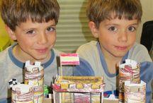 Castillos de cartón cajas zapateria infantil