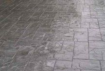 Stamped Concrete / Stamped concrete patios. Concrete patio and pool deck designs and ideas.