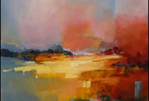 Art abstract landscapes