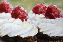 Art- Sweets-cakes-doughnuts