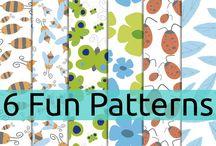 Pattern - Motivos / Algunos de mis diseños de patrones, para mas información visitar mi web o pasaros por mi tienda. www.luisquesadadesign.com https://creativemarket.com/kherop