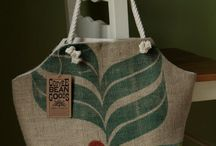 Recycled Burlap Coffee Bags / by Ben Franklin Crafts New Albany