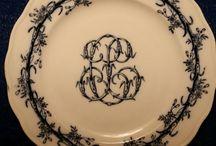 Antique english plates