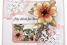 Sunrise Lily Collection / Beautiful imagery of lily filled vases, flower adorned garden hats and luscious floral bouquets grace varying sized card panels, scrapbook layouts and embellishment tags, and are replicated in five sets of delicately detailed stamp illustrations and dies. Designer Papers filled with romantic hues of the sunrise...glorious shades of pinks, oranges, and yellows. Ravishing shades of greens, creams and whites bring a crispness and a breath of fresh air just as the spring season itself.
