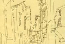 Urban Sketching / #urban #sketch #draw #city #day #usk #ink #watercolor #