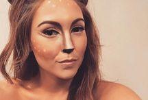 deer costume diy make up