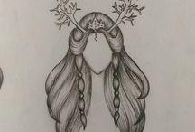 my hair sketch / #hairdrawing #elf #hairsketch