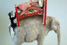 Andree Richmond Animal Sculpture / Creates fantastical animals, often wheeled or dancing, as in the struggle for balance between technology & natural rhythms.