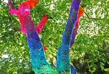 Neulegraffiteja-Yarn bombing