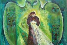 Paintings and shields / Shamanic paintings and animal shields