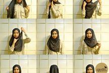 Square hijab tutorial