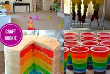 Harrison's rainbow party ideas