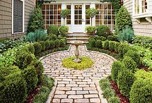 Landscaping / My favourite landscaping looks for the perfect classy mix of traditional and modern with a French Country feel. I am obsessed with boxwoods and hydrangeas!!