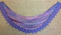 Kingfisher Shawl With Beads