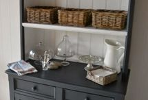 Chalk painted cabinets